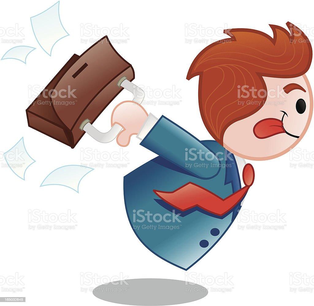 Vendedor corriendo en una empresa - ilustración de arte vectorial