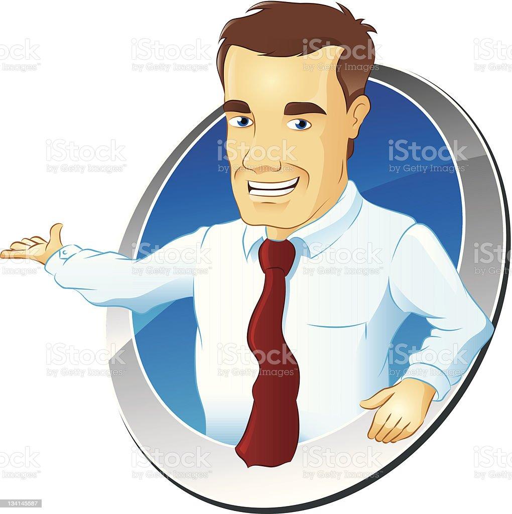 Salesman vector art illustration