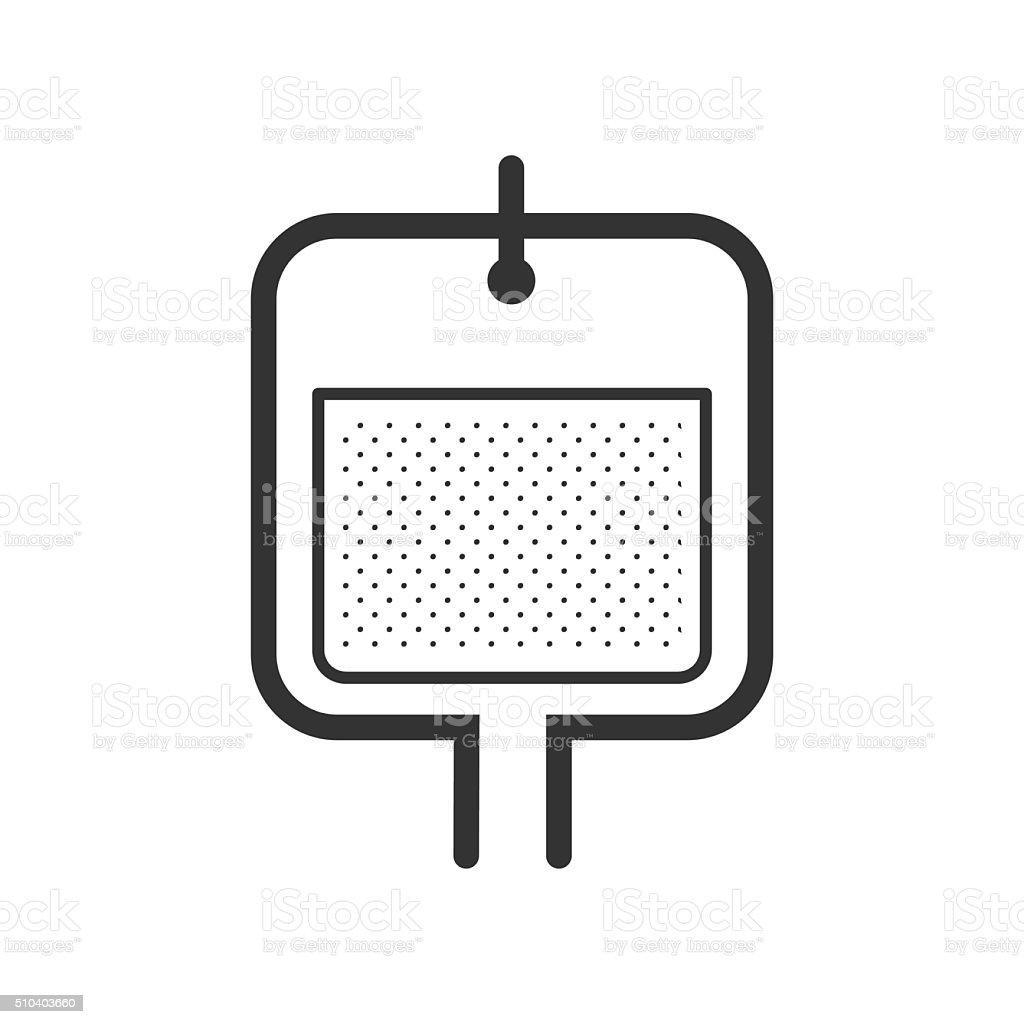 Saline icon design vector art illustration