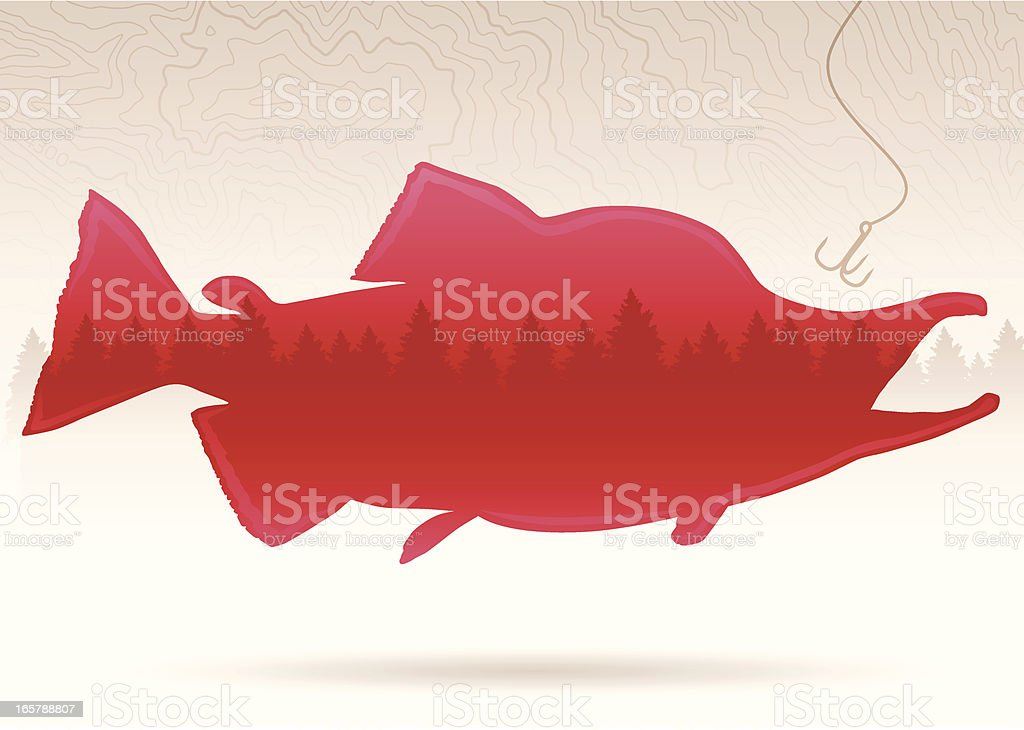 Salmon Background royalty-free stock vector art