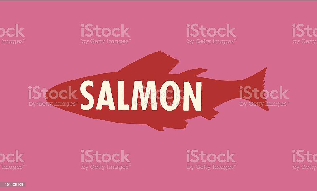 Salmon Fish vector art illustration