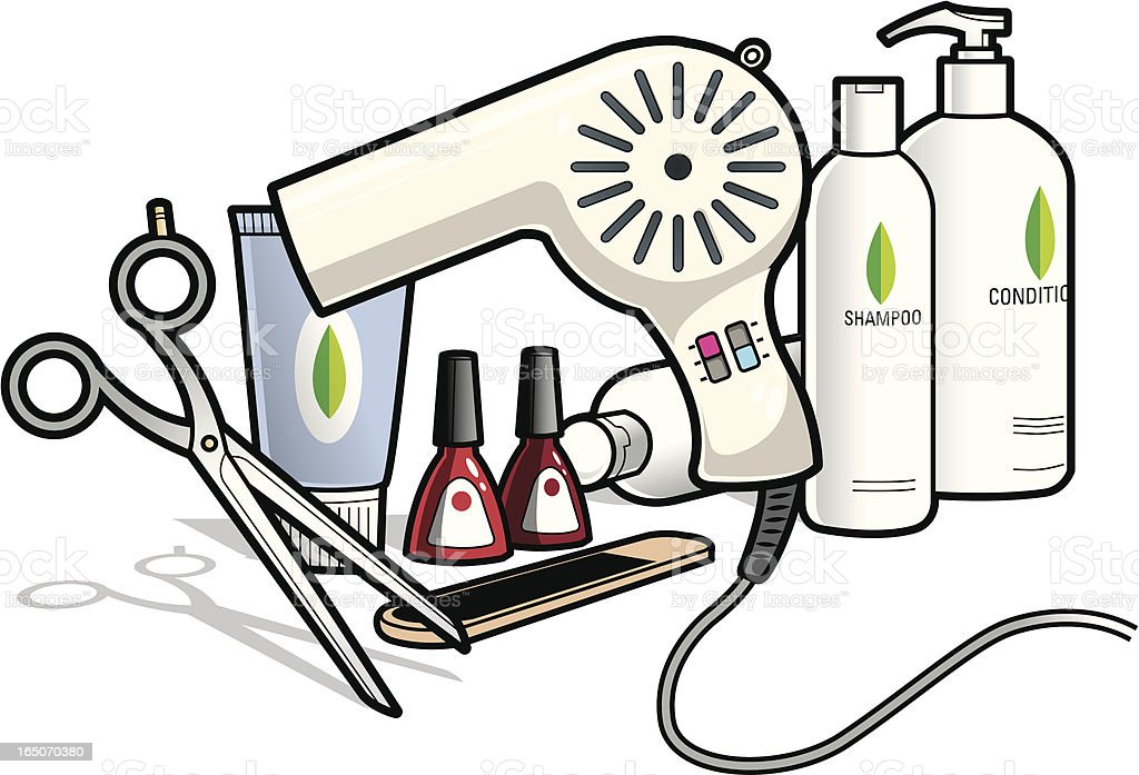 Salon Equipment royalty-free stock vector art