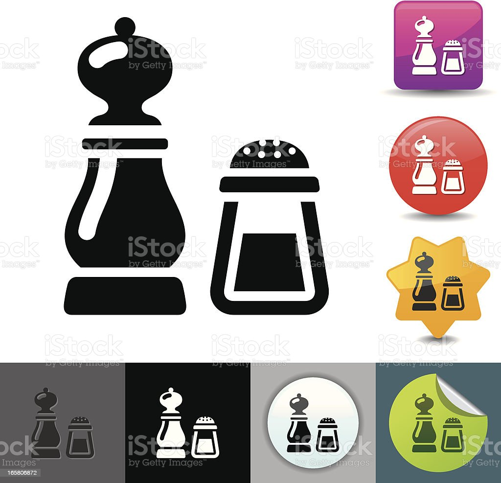 Salt and pepper icon | solicosi series royalty-free stock vector art