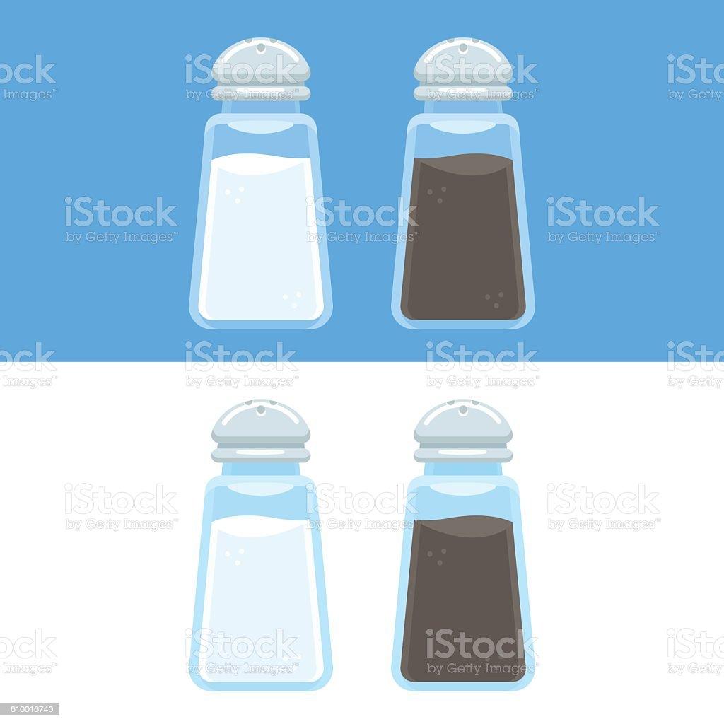 Salt and pepper icons vector art illustration