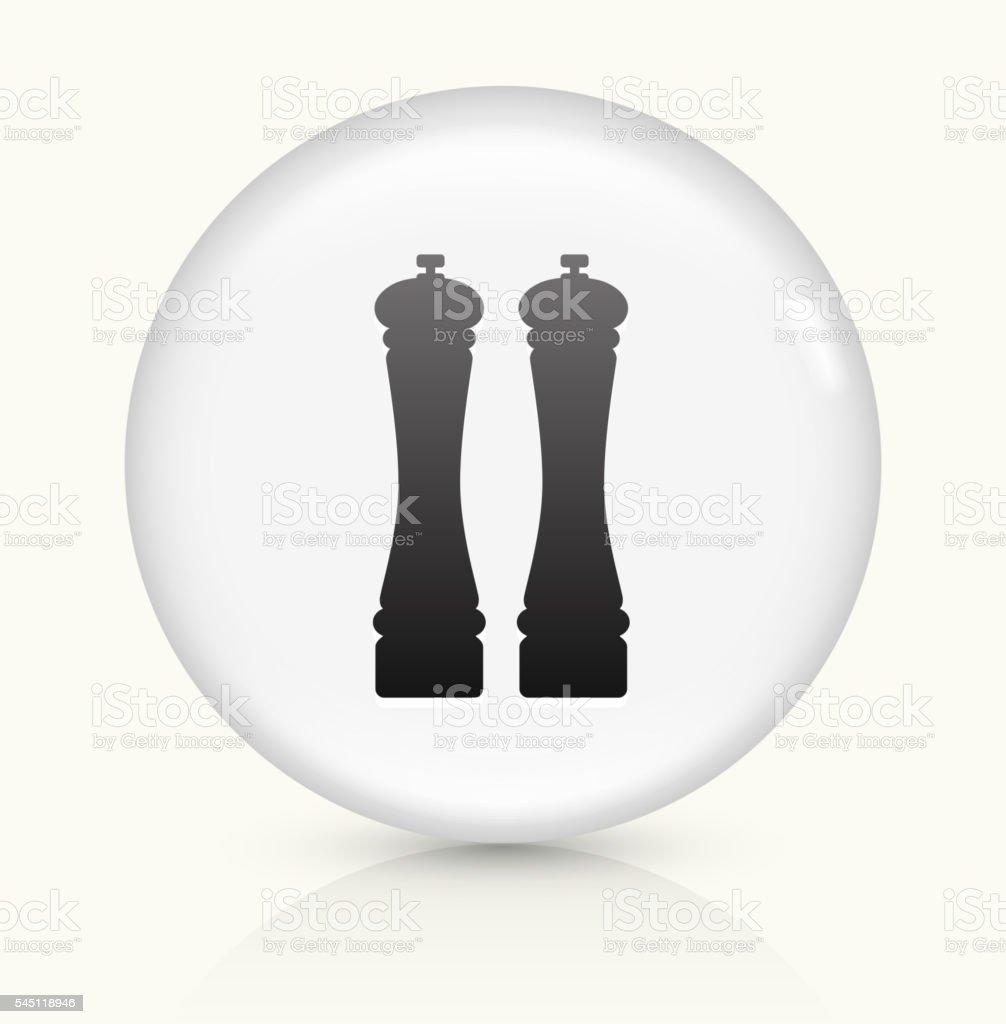 Salt and Pepper Shaker icon on white round vector button vector art illustration