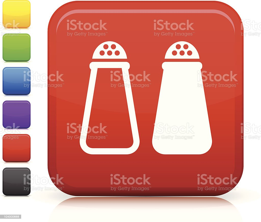 salt and pepper square icon royalty-free stock vector art