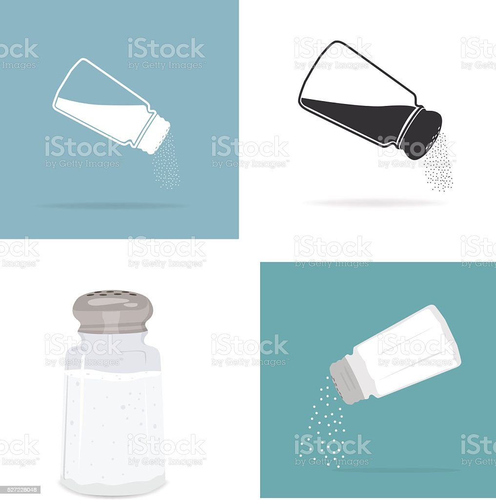 Salt grinder vector art illustration