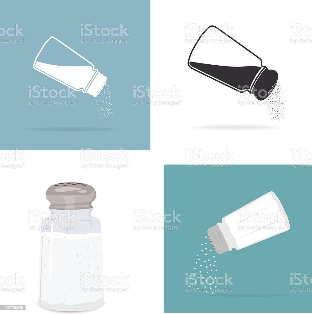 Salt grinder vector art illustration