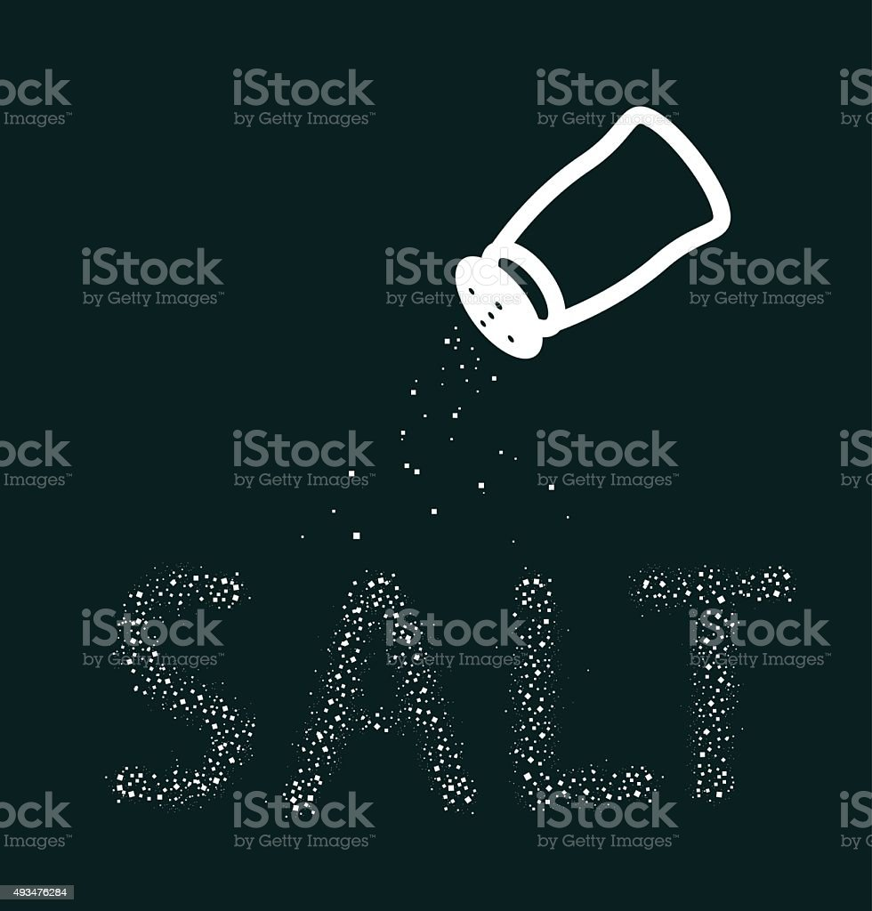 Salt icon. Vector element vector art illustration