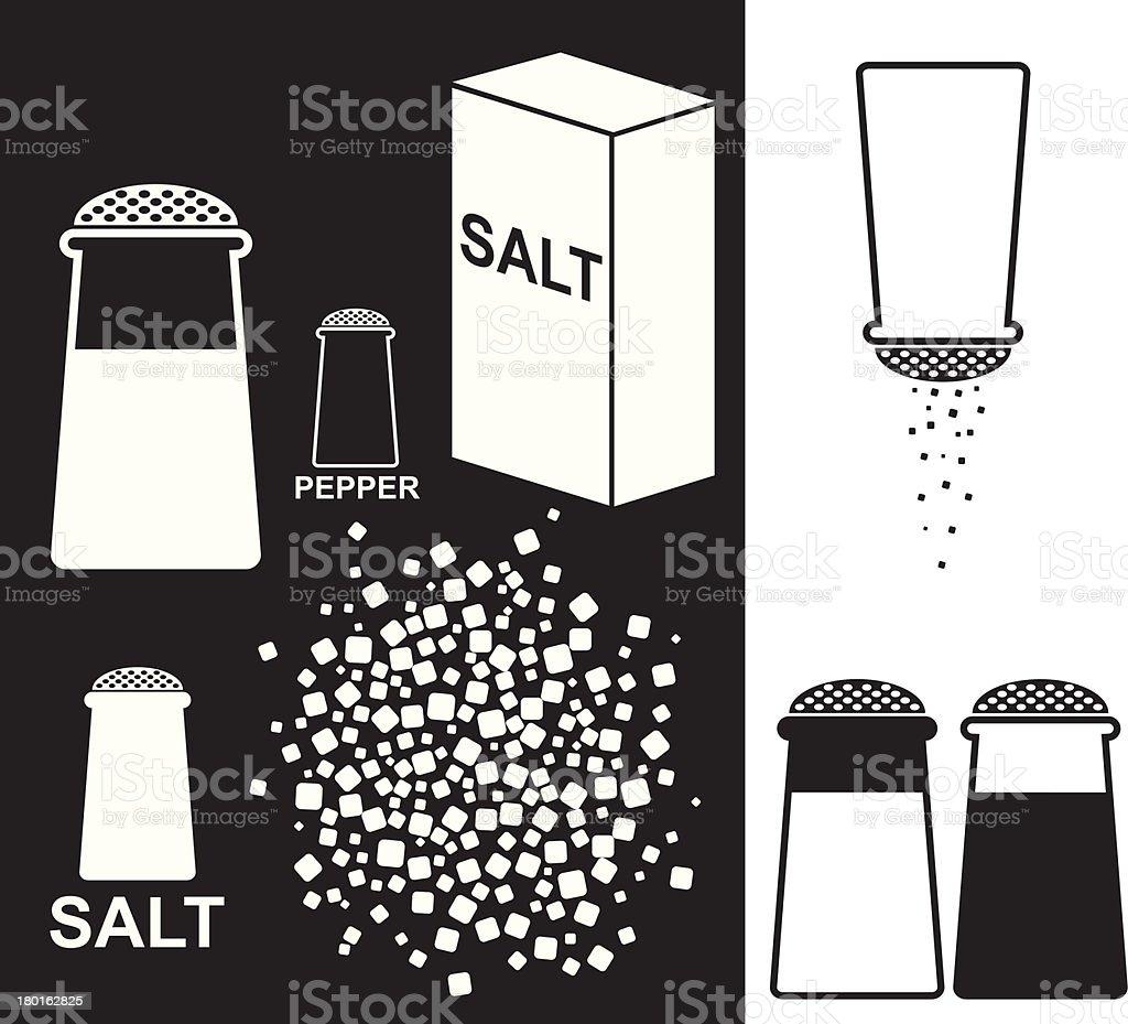 Salt. Pepper vector art illustration