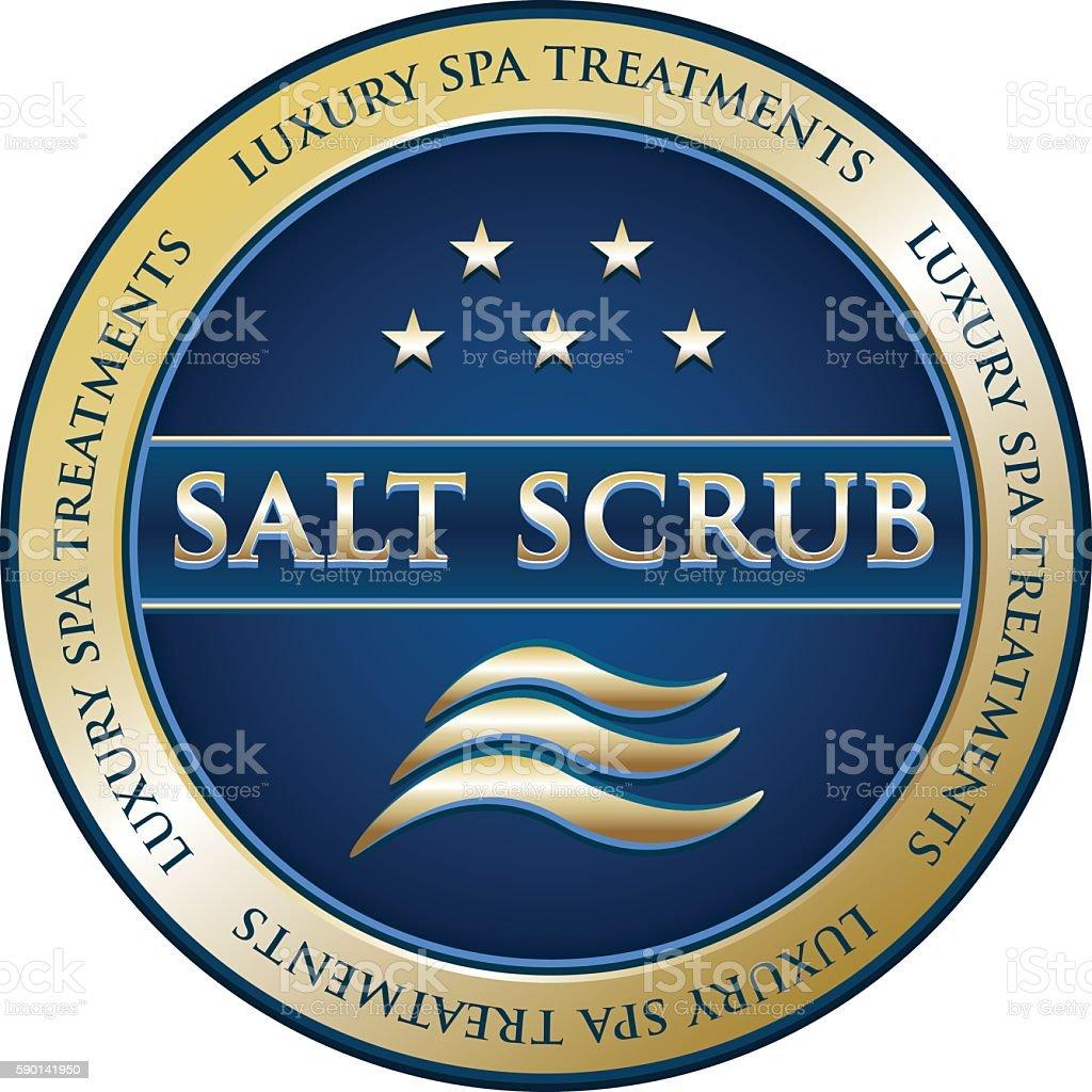 Salt Scrub Luxury Spa Treatment vector art illustration