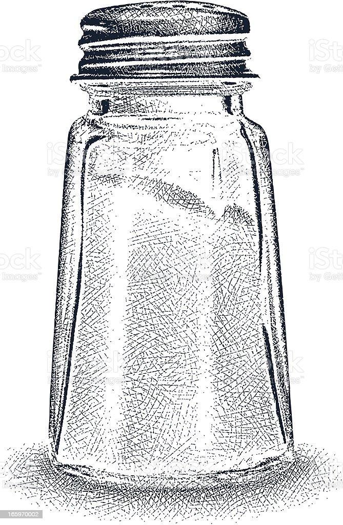 Salt Shaker vector art illustration