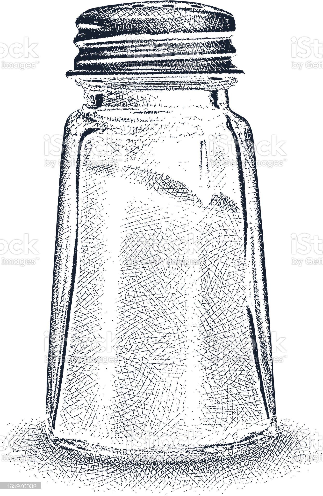 Salt Shaker royalty-free stock vector art