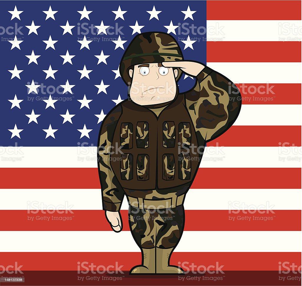 I Salute You – USA royalty-free stock vector art