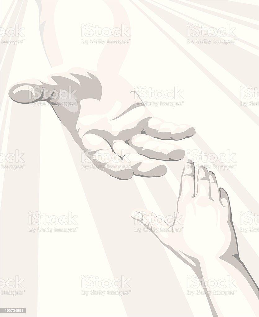 Salvation royalty-free stock vector art