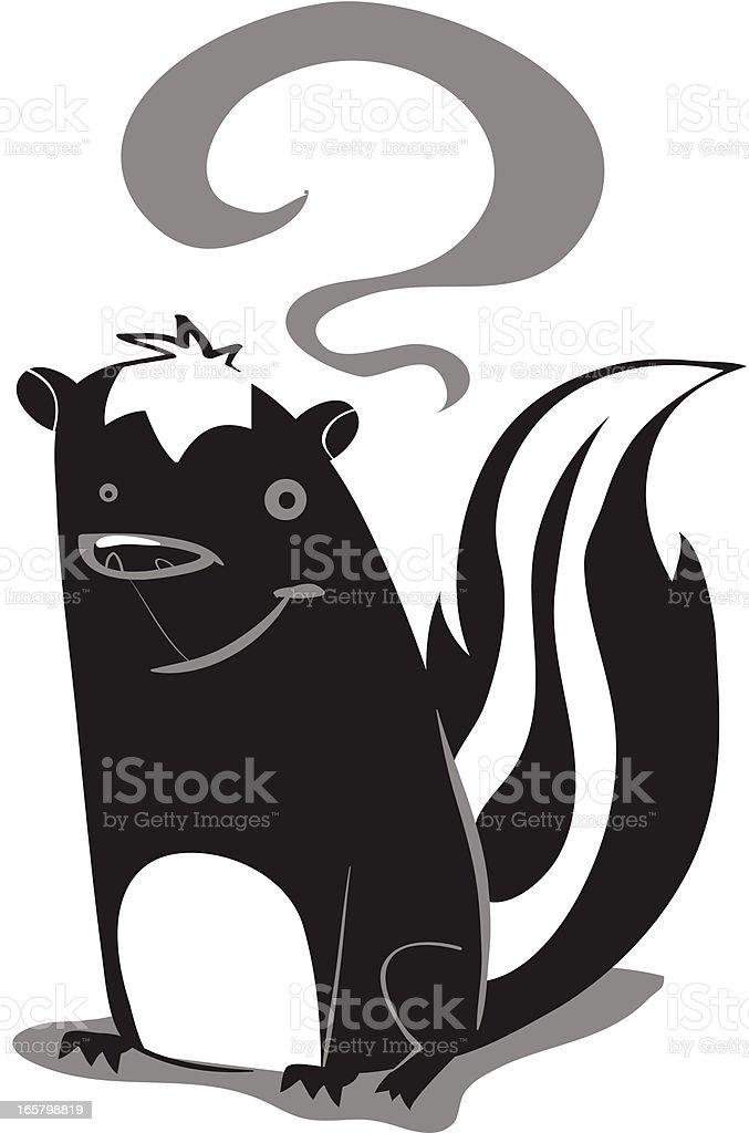 Sam the Skunk royalty-free stock vector art