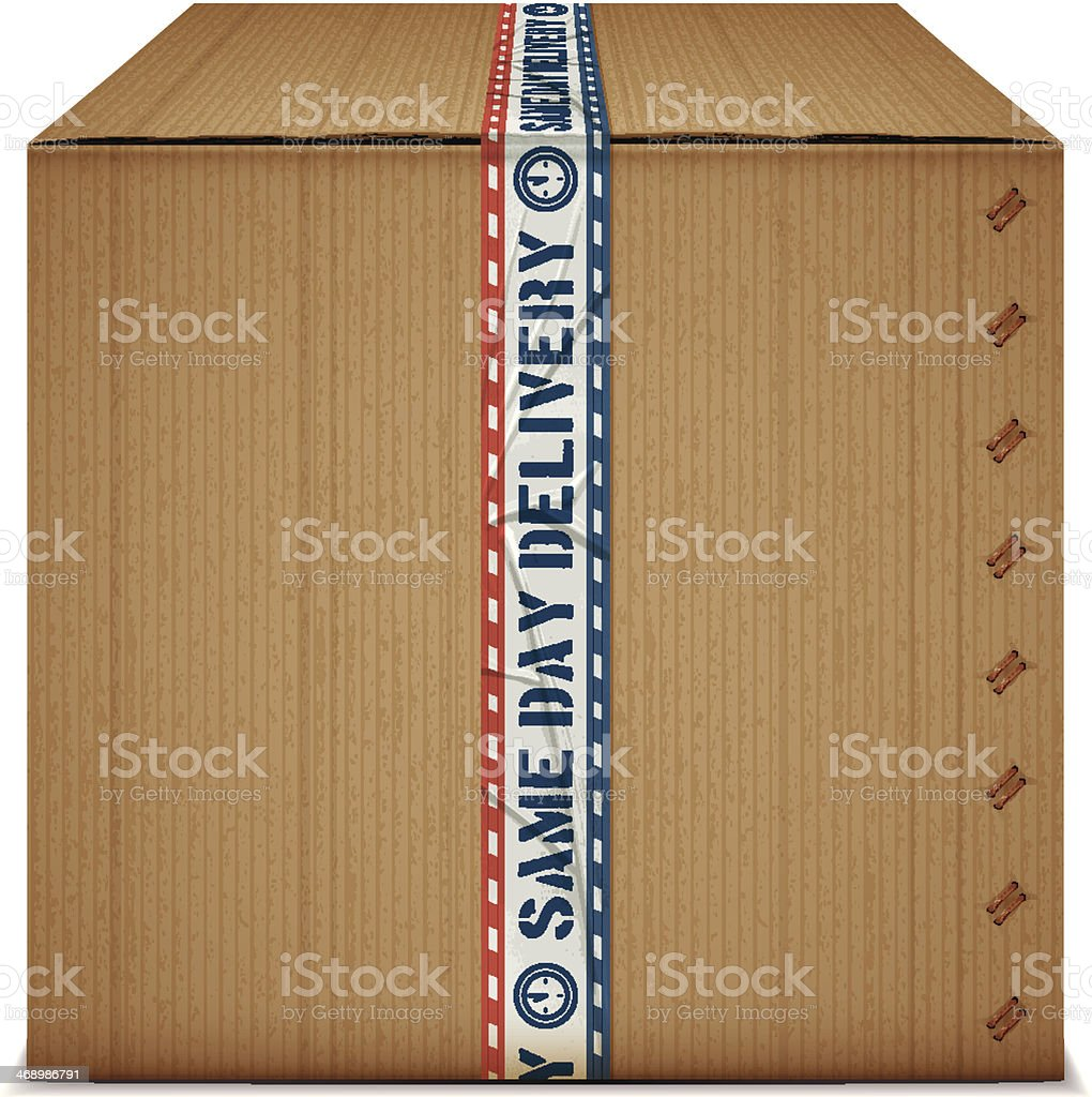 same day delivery box royalty-free stock vector art