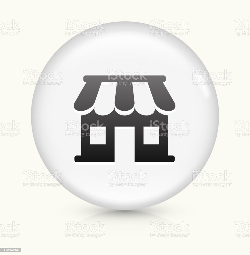 Samll business Store icon on white round vector button vector art illustration
