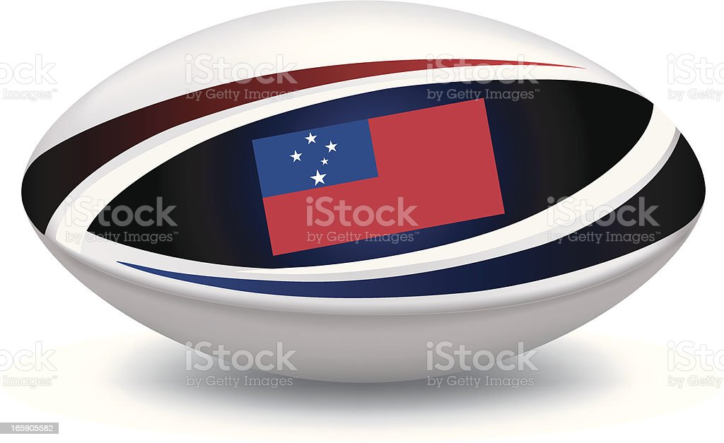 Samoan Rugby Ball royalty-free stock vector art