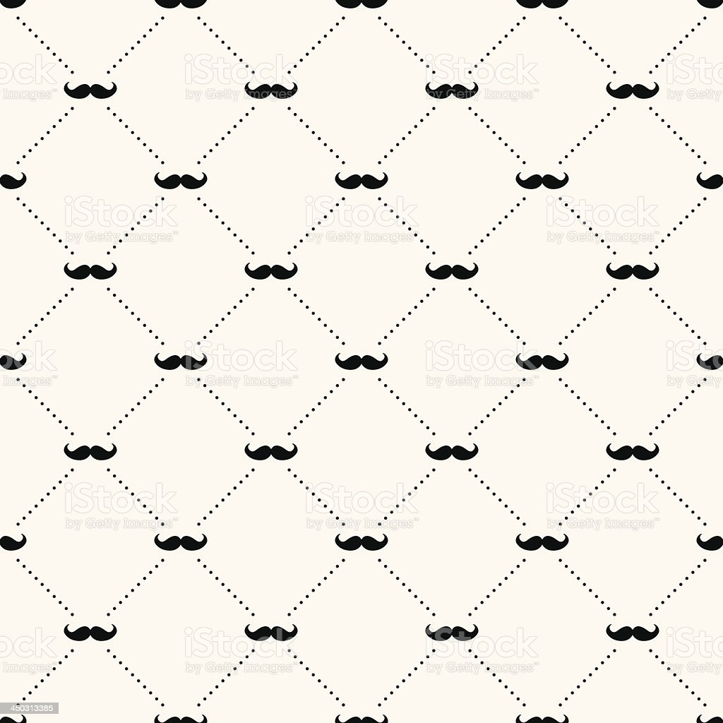A sample background of a retro pattern of a mustache vector art illustration