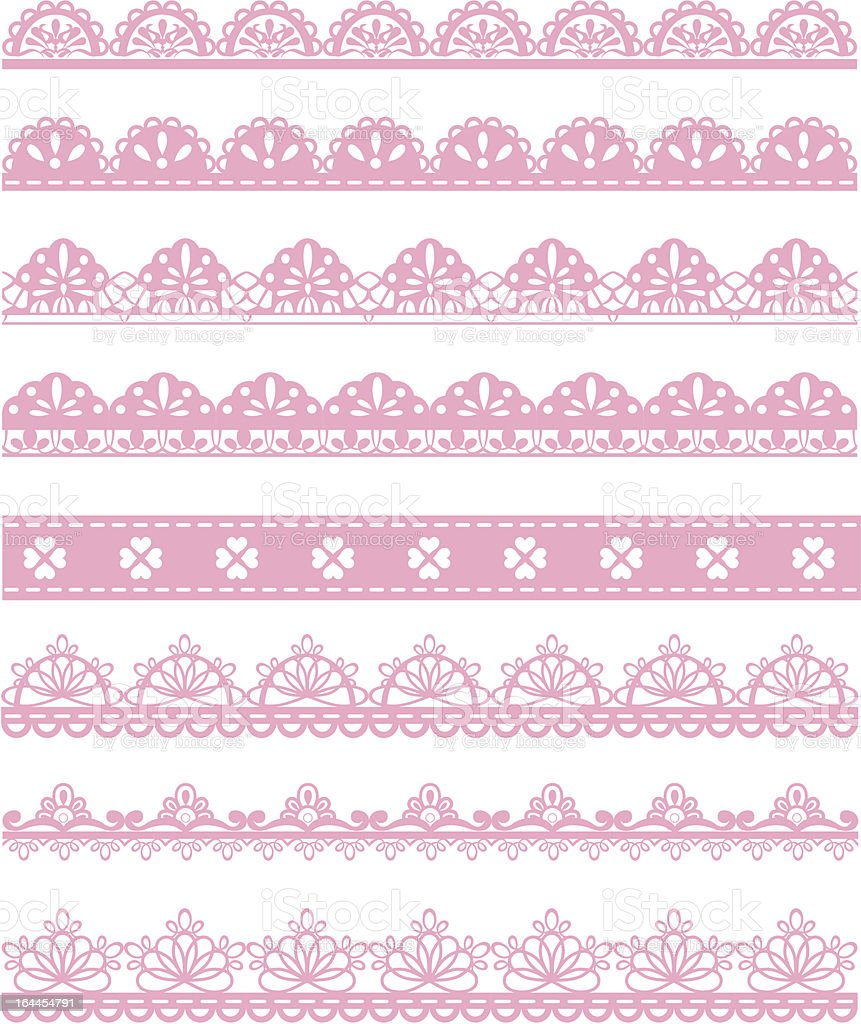 A sample illustration of pink laces on a white background vector art illustration