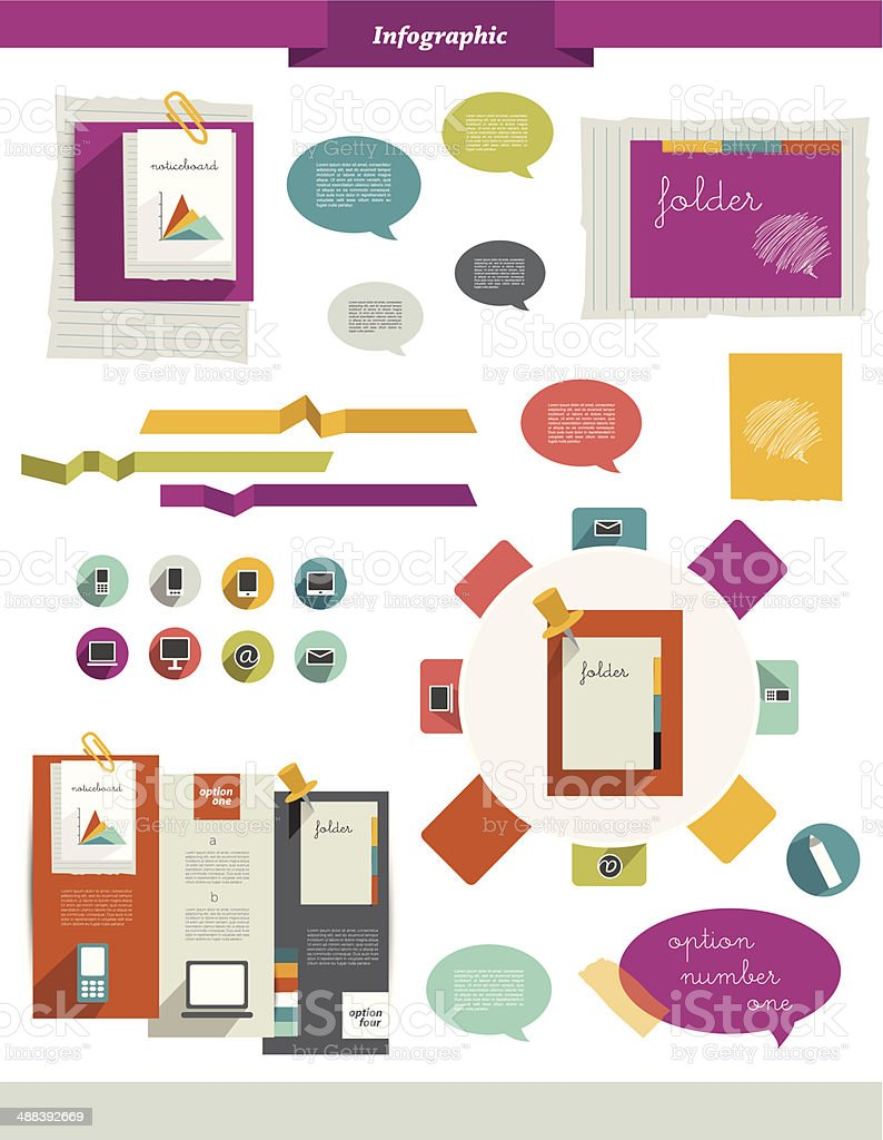 Sample infographic collection royalty-free stock vector art