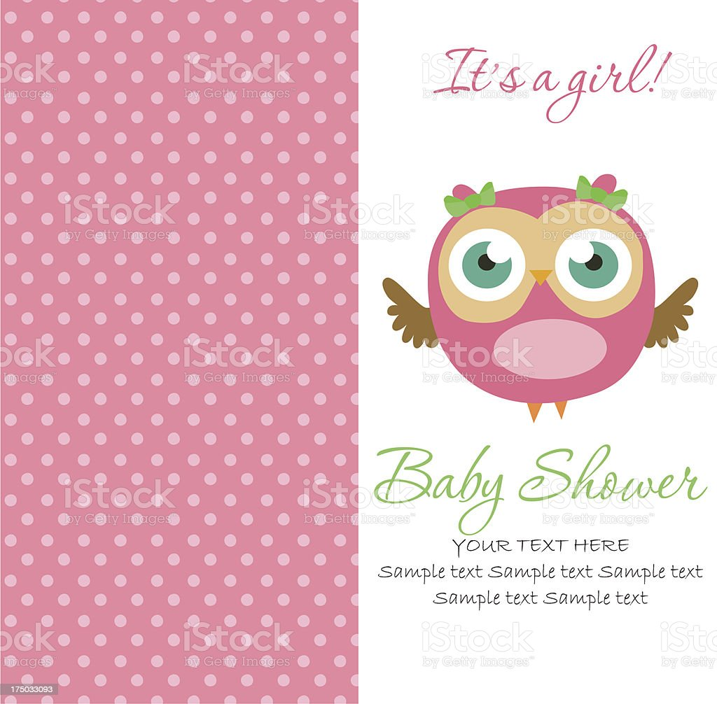 A sample layout for a baby shower card royalty-free stock vector art