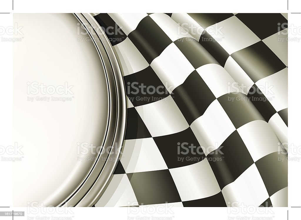 A sample layout of a black and white checkered background vector art illustration