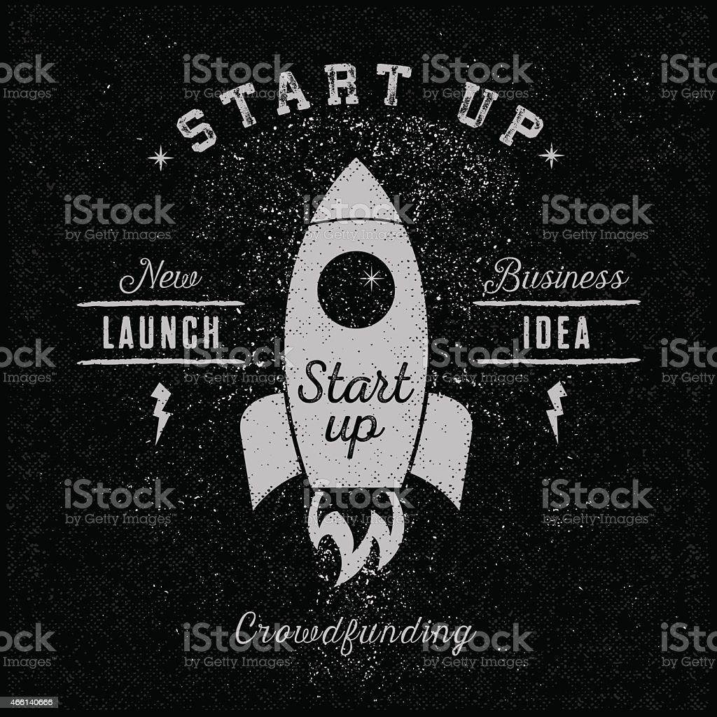 A sample poster for start up businesses vector art illustration