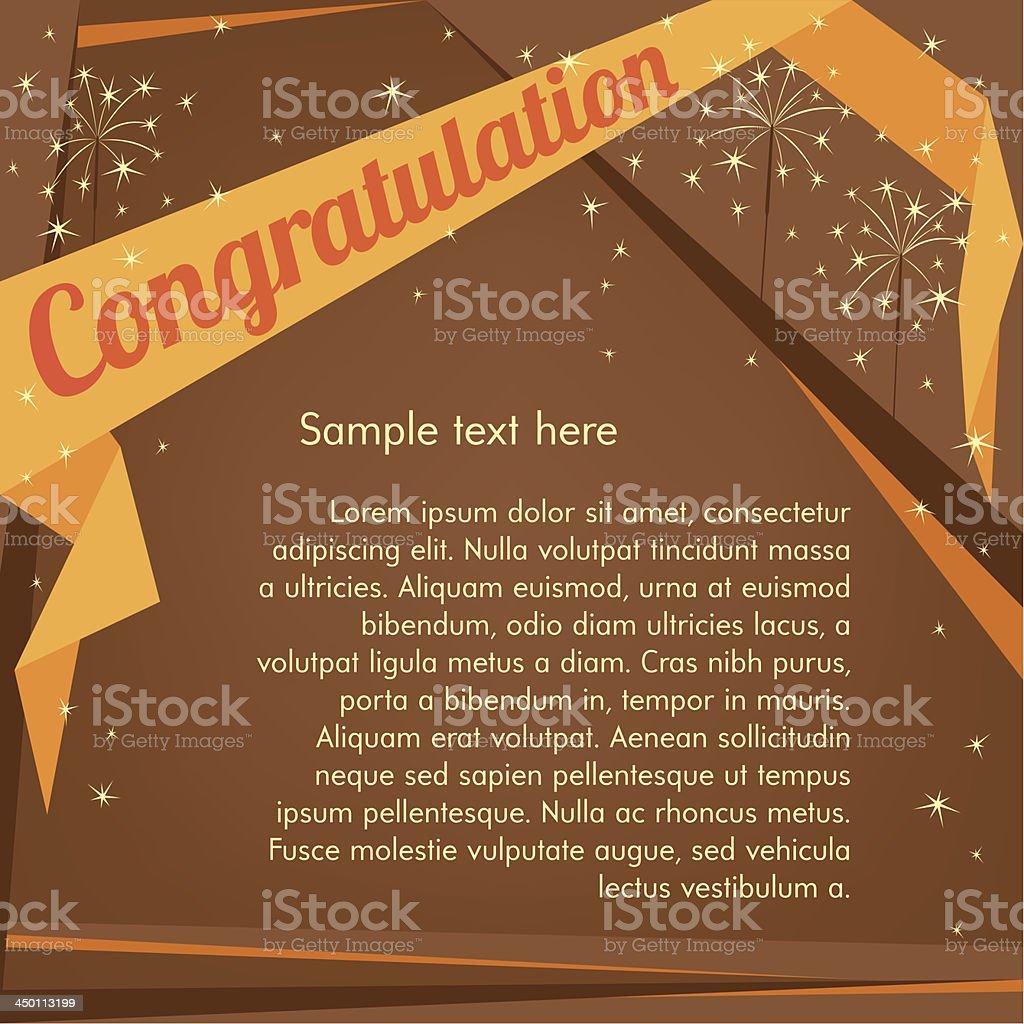 Sample text fabulous celebration invitation vector art illustration