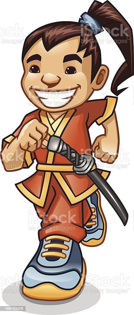 Samurai Exercise royalty-free stock vector art