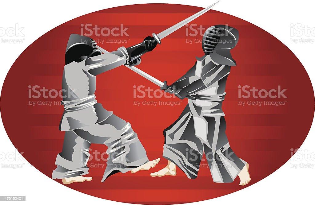 Samurai Fighters royalty-free stock vector art