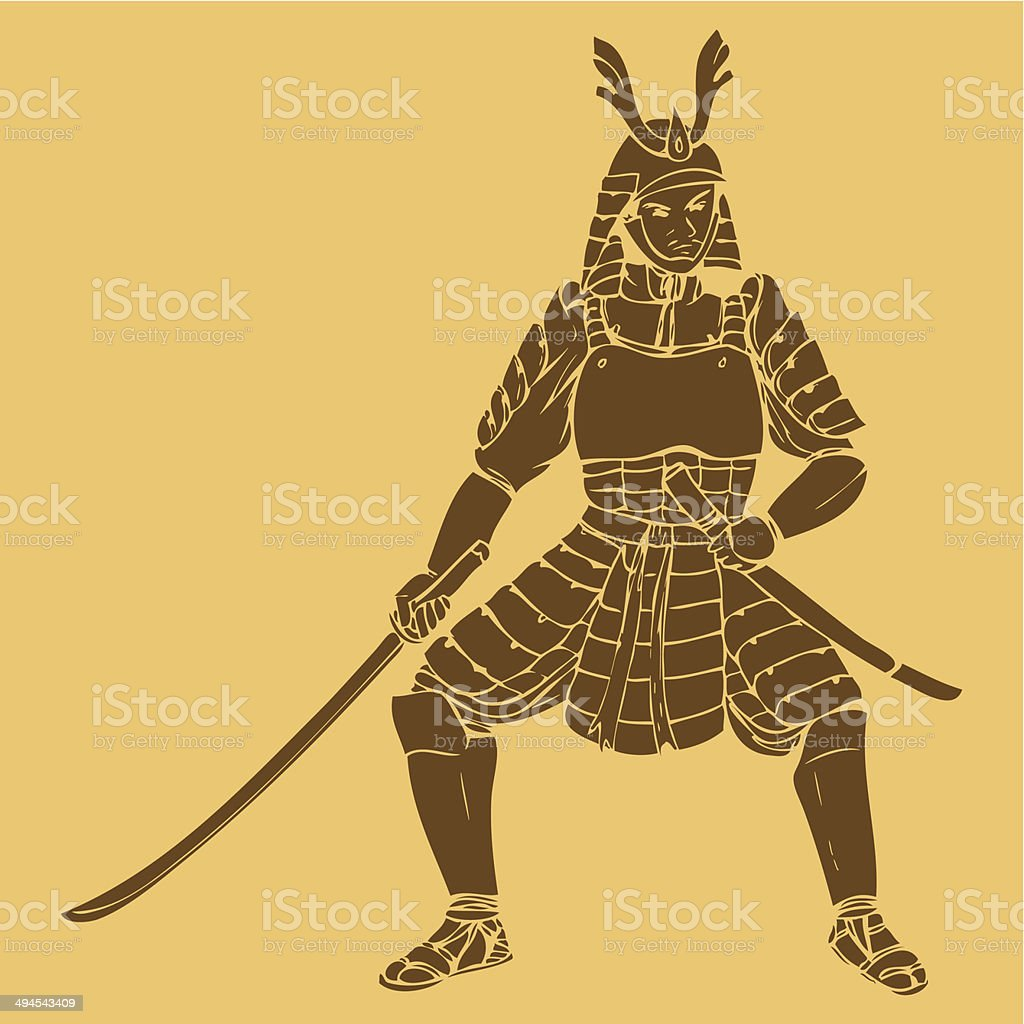 Samurai royalty-free stock vector art