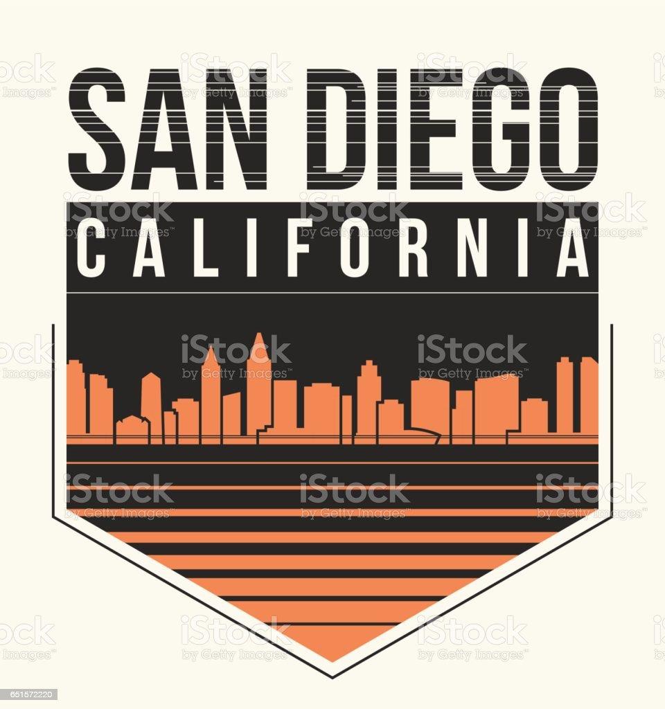 Shirt design san diego - San Diego Graphic T Shirt Design Tee Print Typography Emblem