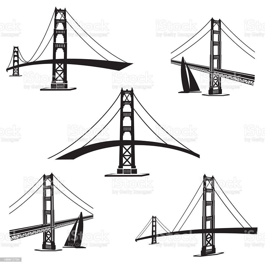 San Francisco 2 vector art illustration