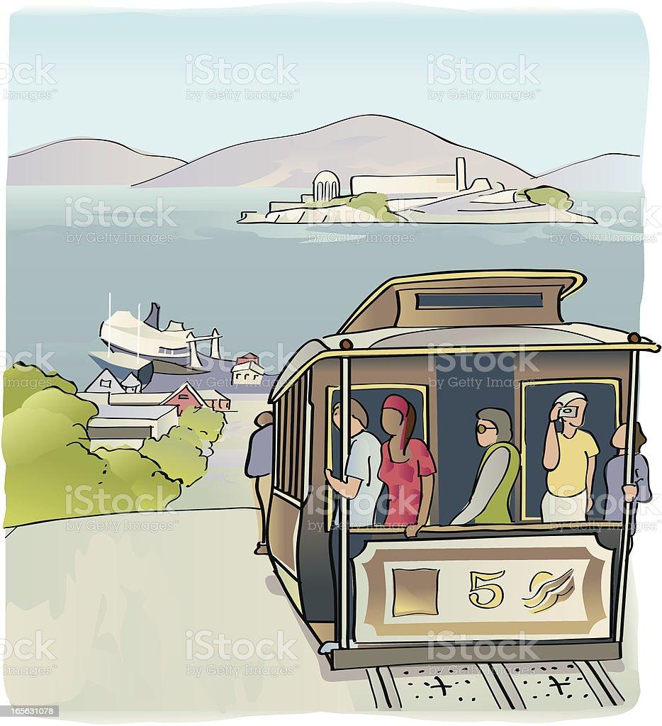 San Francisco Cable Car royalty-free stock vector art