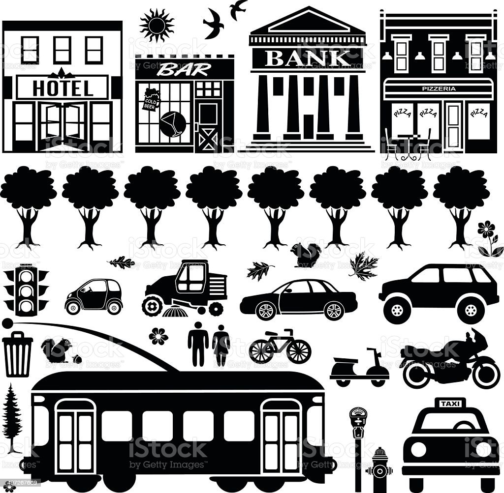 San Francisco design elements vector art illustration
