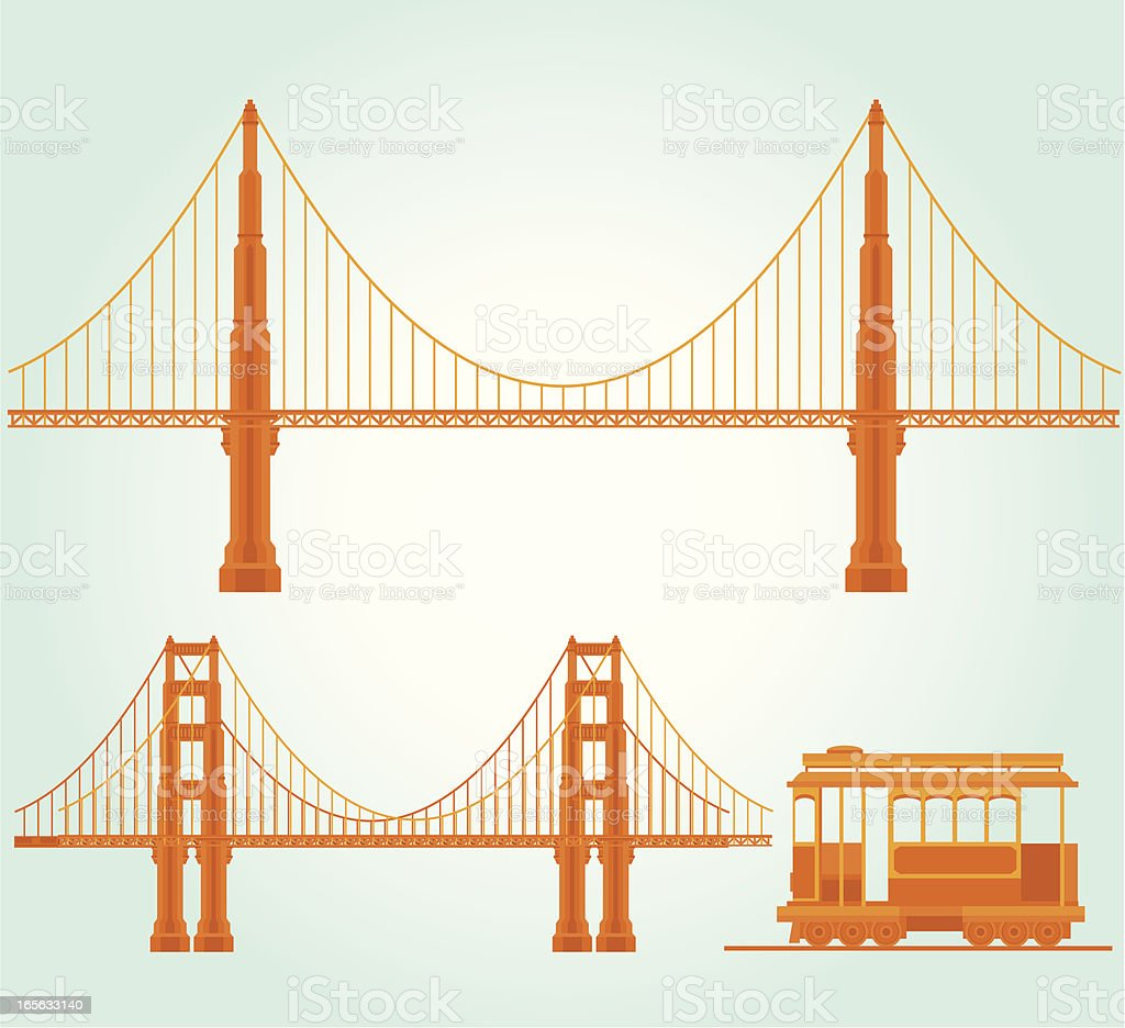 San Francisco Landmark vector art illustration