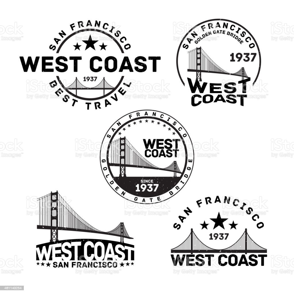 San Francisco Logo Stamp vector art illustration