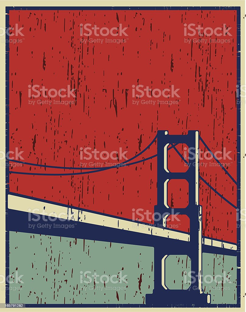 san francisco poster vector art illustration
