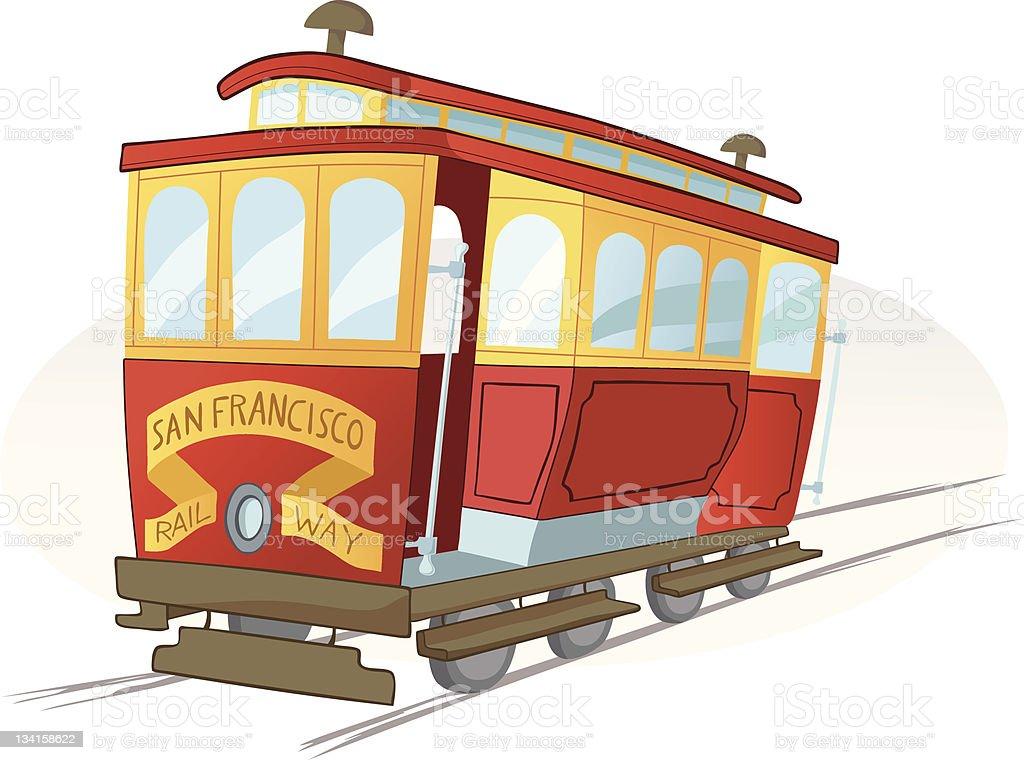 San Francisco Rail Way vector art illustration