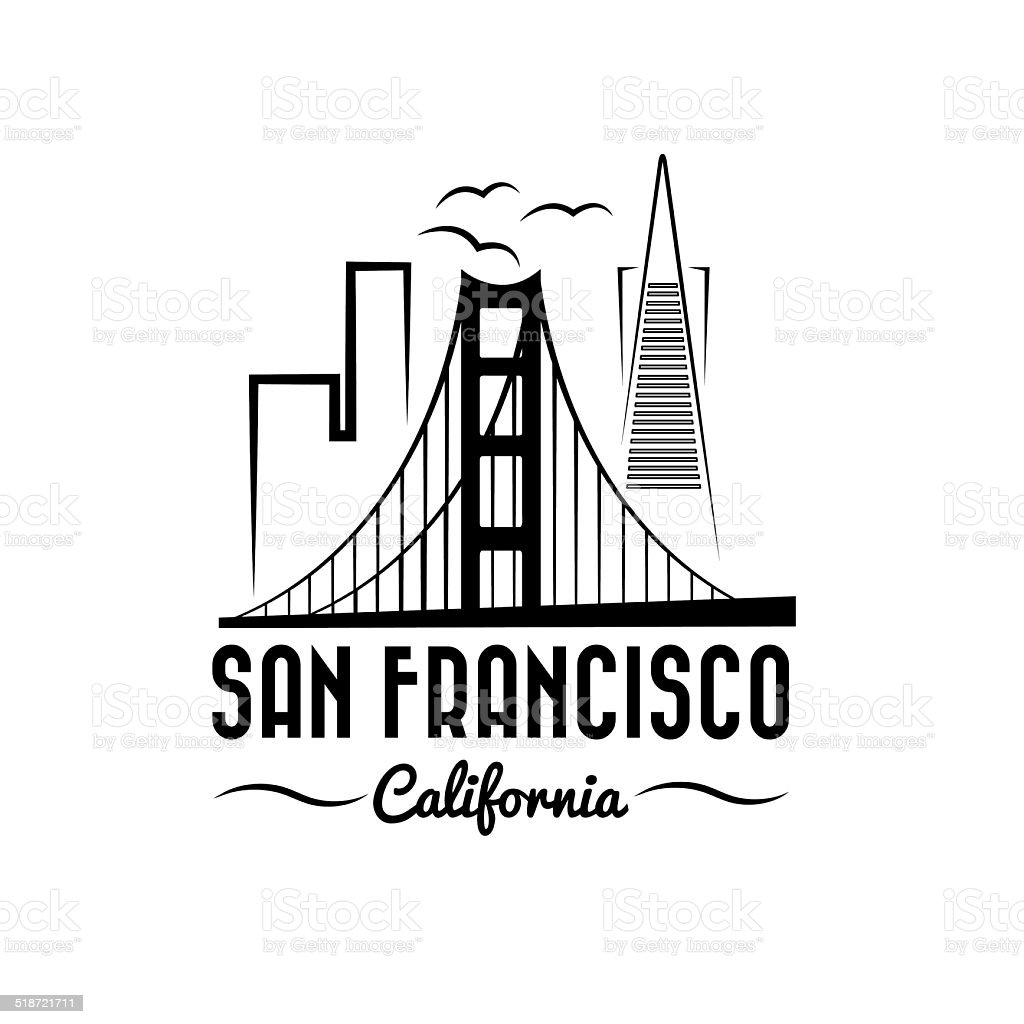 san francisco skyline illustration vector art illustration