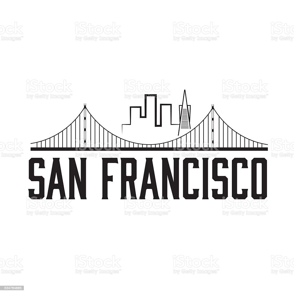 San Francisco skyline illustration vector art illustration