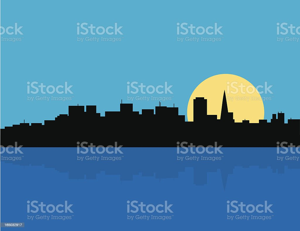 San Francisco skyline royalty-free stock vector art