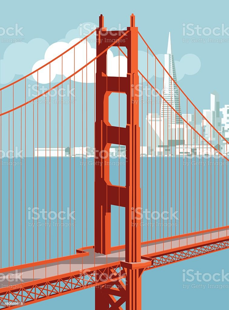 San Francisco Skyline vector art illustration