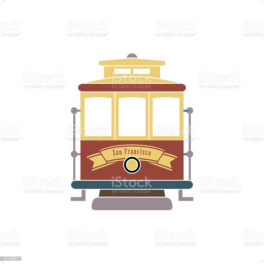 San Francisco Streetcar vector art illustration