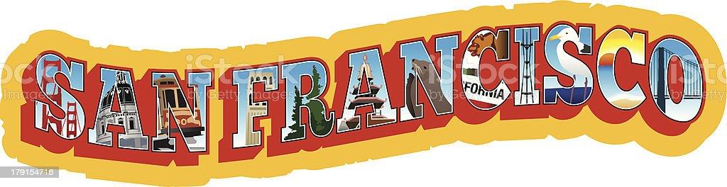 San Francisco Travel Sticker royalty-free stock vector art