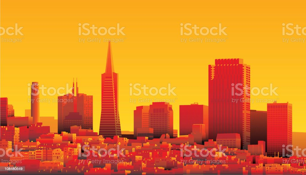 San Francisco royalty-free stock vector art
