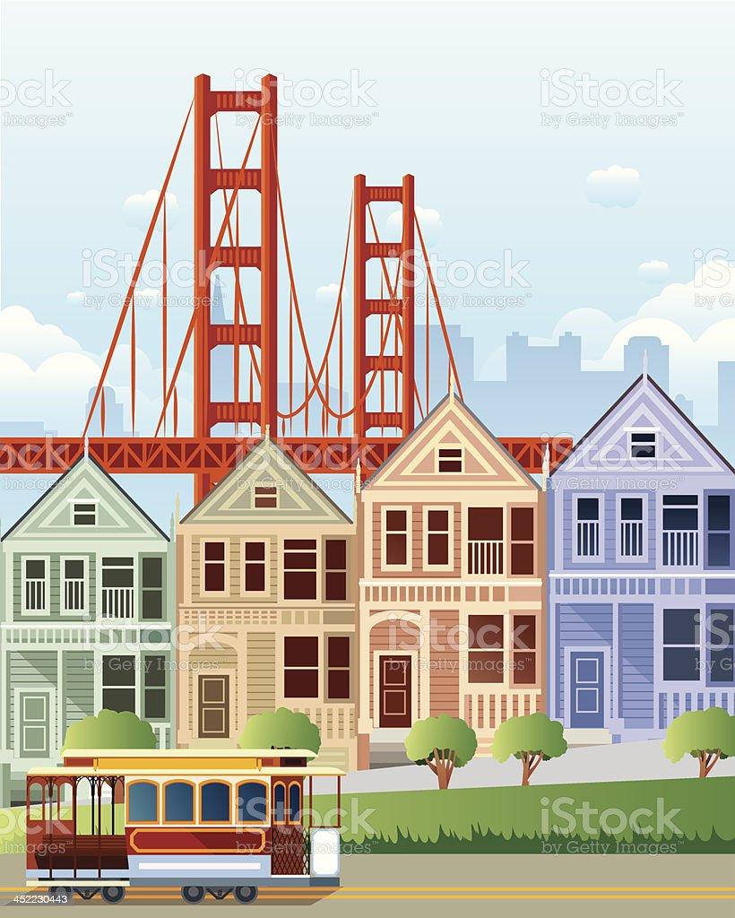 San Francisco royalty-free stock vector art