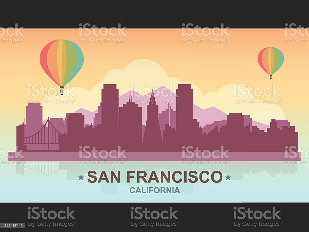 San Francisco vector art illustration